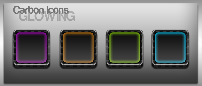 Carbon Glowing Icons by yrmybybl