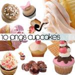 Set O1 pngs cupcakes
