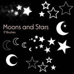 Moons and Stars - 17 Brushes