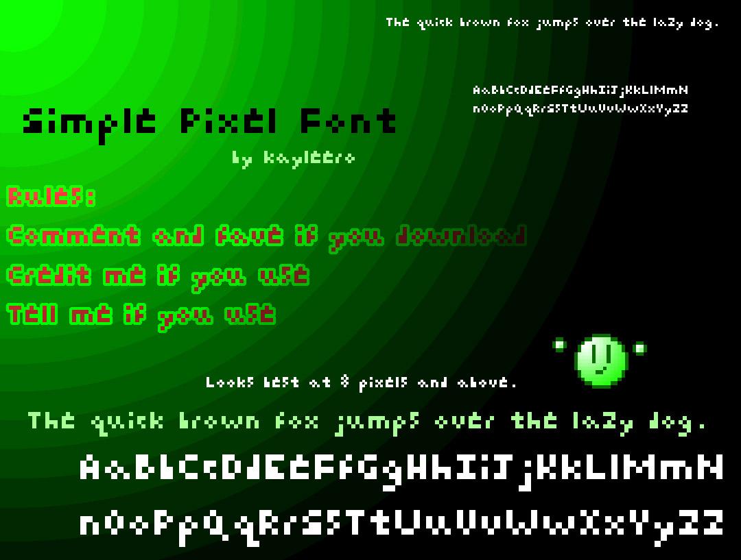 Simple Pixel Font