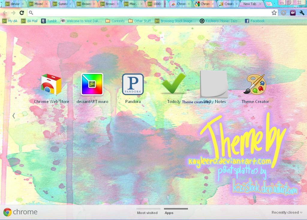 google chrome paint splatter theme by kayleero on deviantart