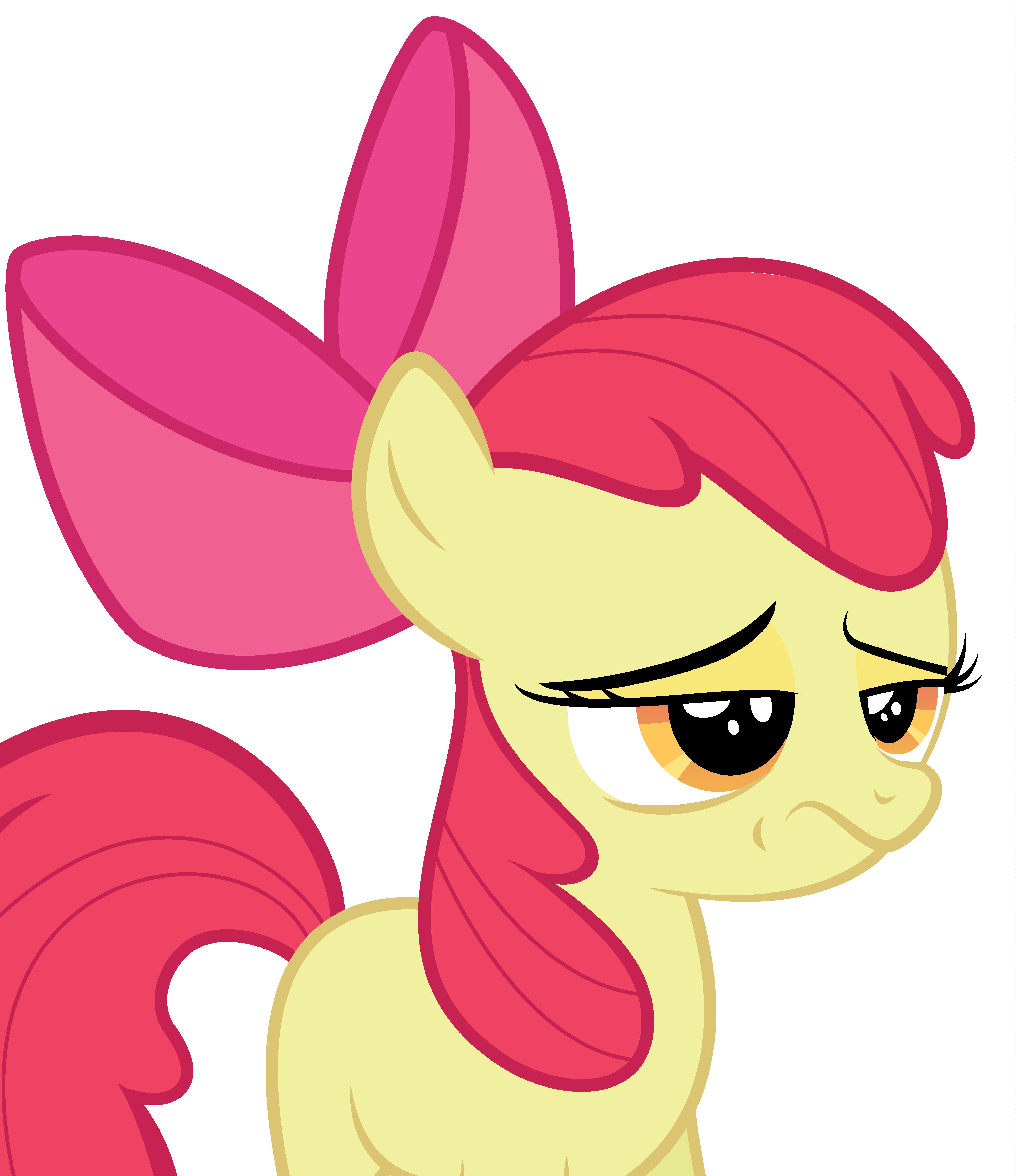 Apple Bloom is skeptical of your bullshit.