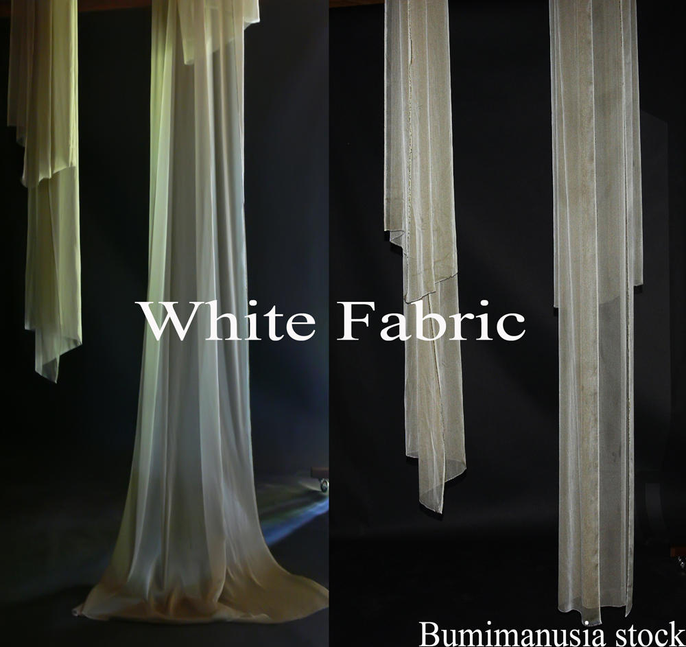 White Fabric by bumimanusiastock