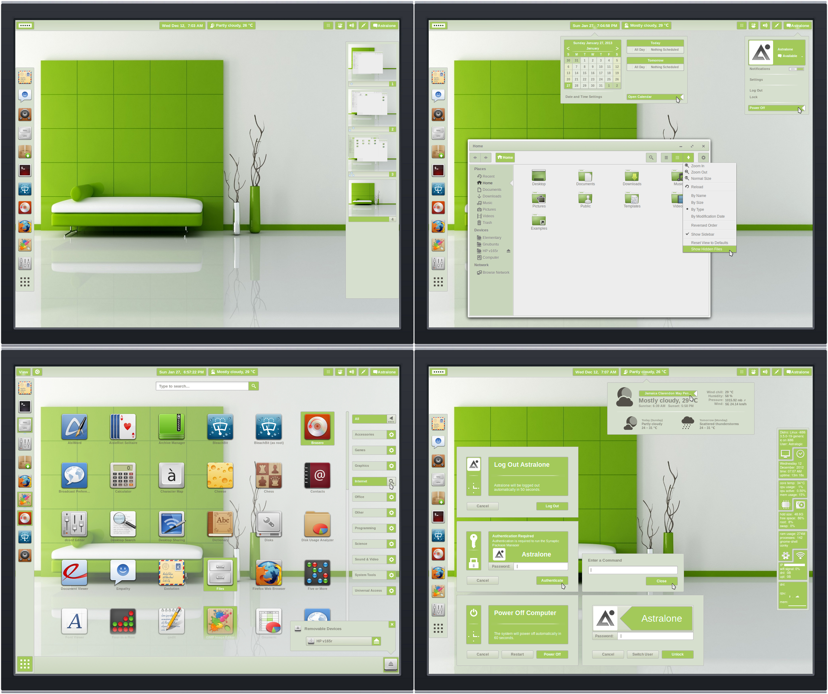 Gnome Shell ~ Panacea Green Suite 3.6
