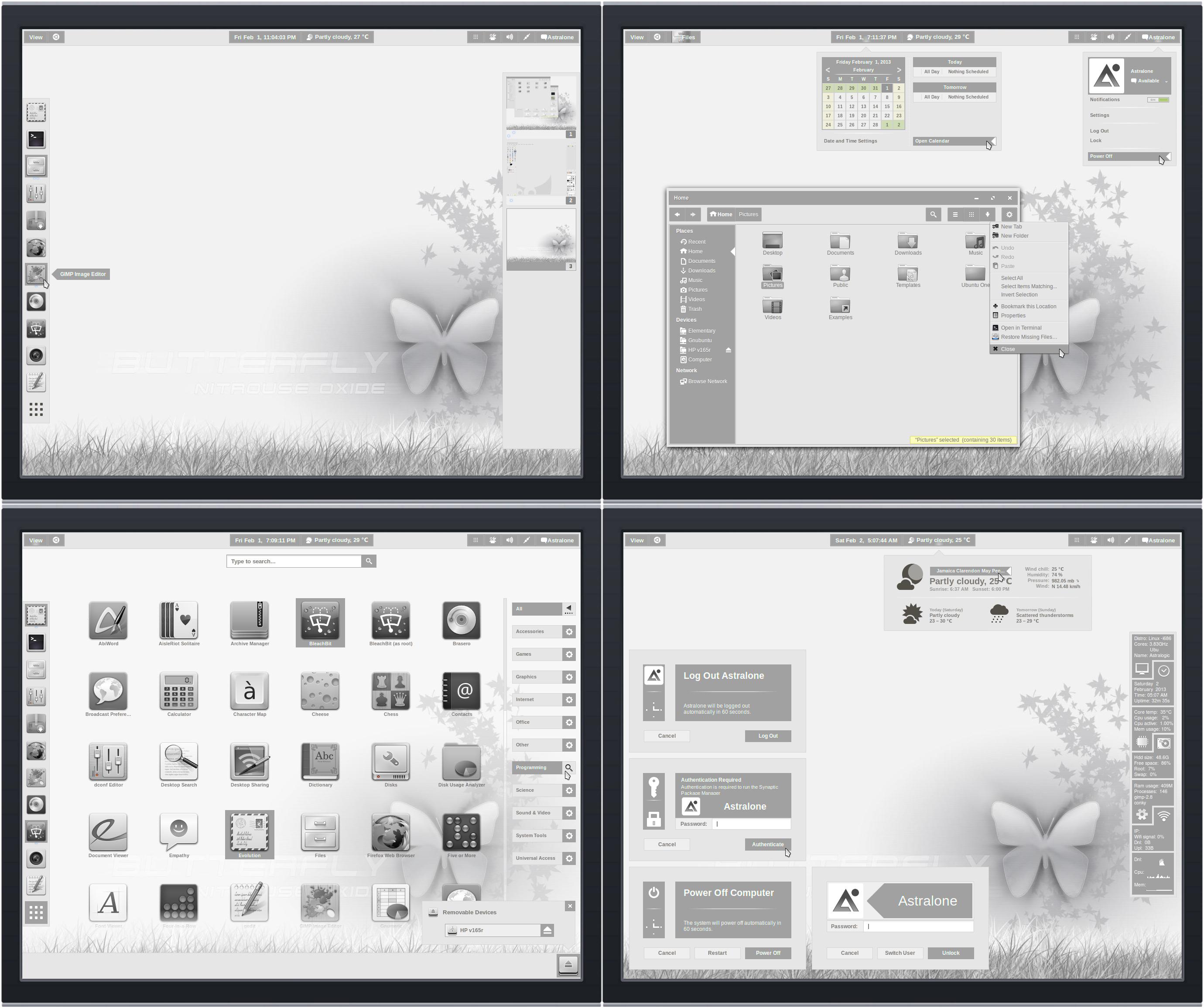 Gnome Shell ~ Panacea Mist Suite 3.6