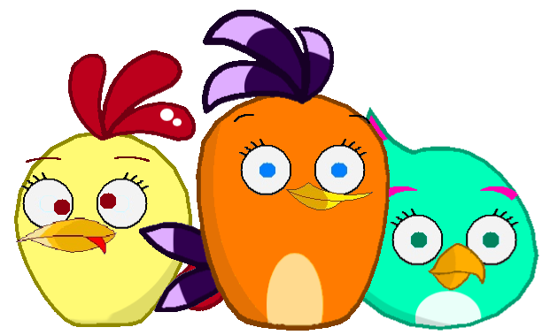 Abm a trio of female birds by jared33 on deviantart - Angry birds trio ...