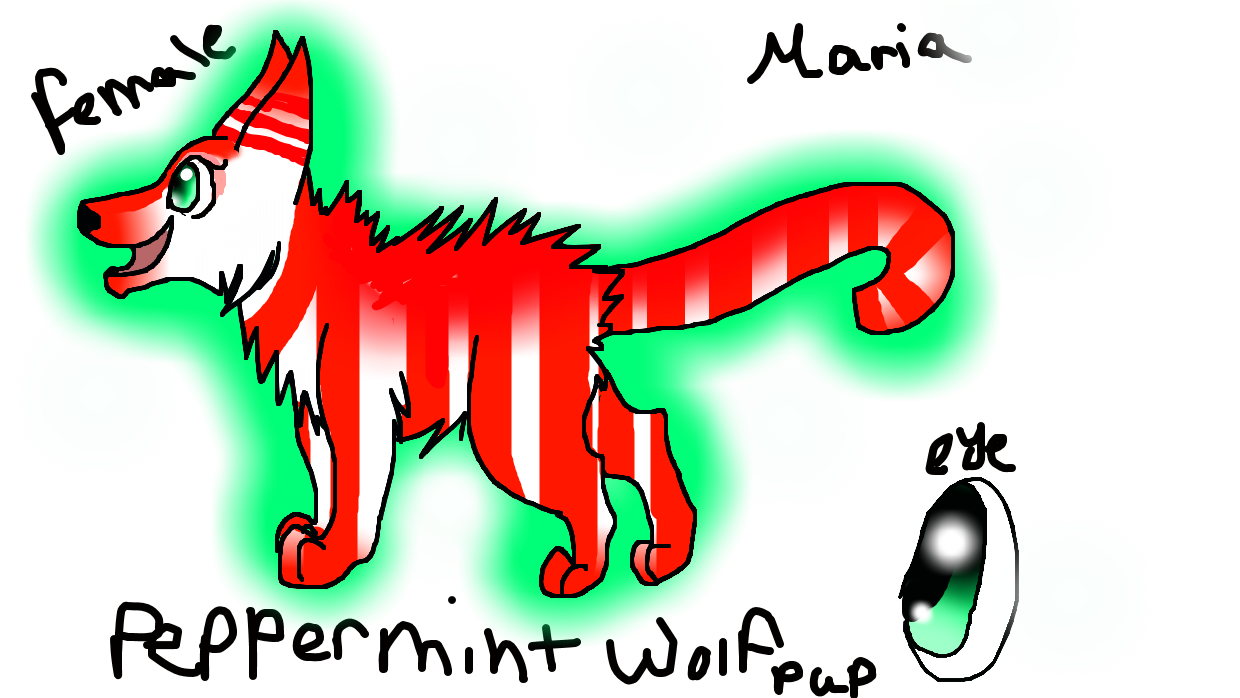 maria the peppermint wolf ( contest entry ) by StarFlareTheCat