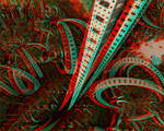 Elevator to the center of Nibiru Anaglyph 3D