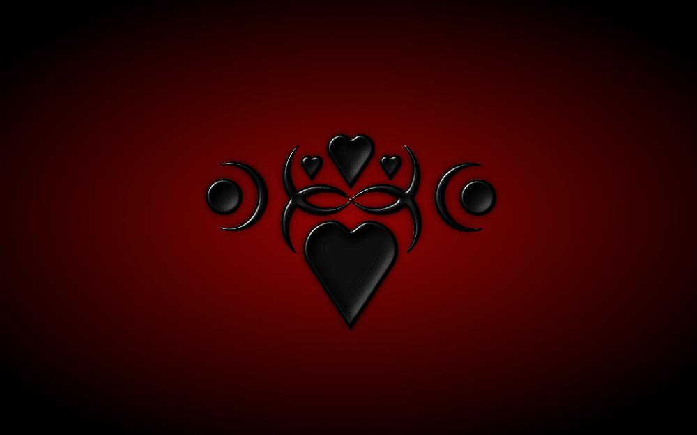 Black Heart Wallpaper HD By Mystica 264