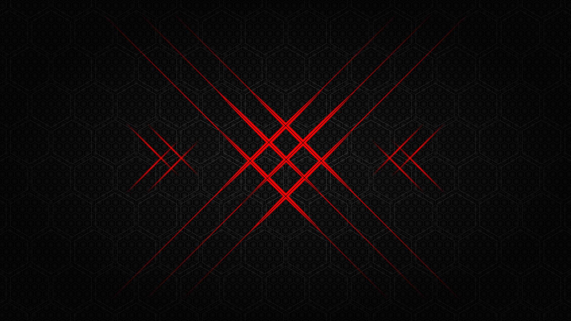 Flash hexagon - 10k background (Red)