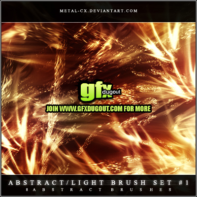 Abstract-Lighting Brush set 01