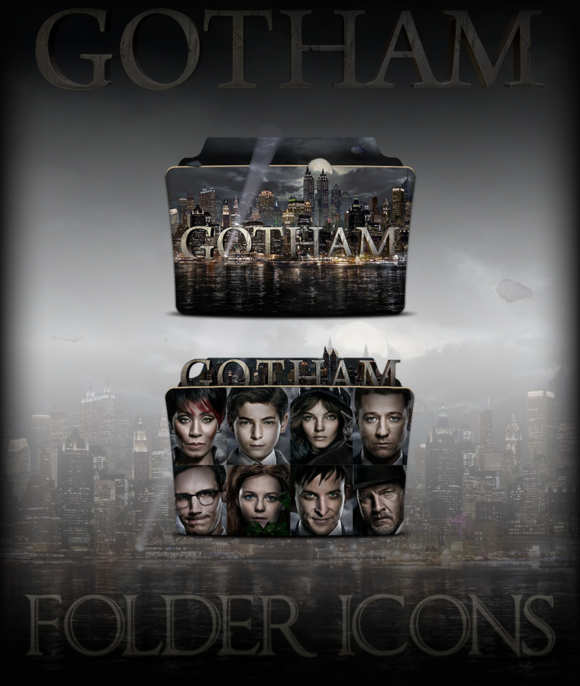Gotham TV Series Folder Icons by a666a