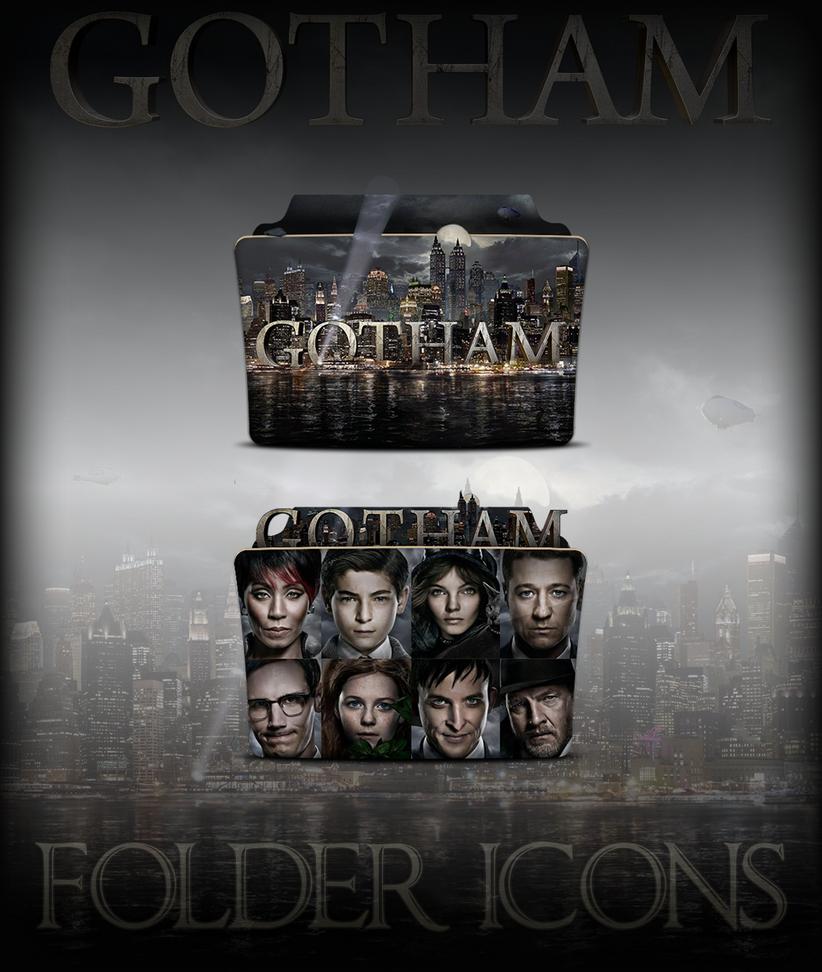 Gotham TV Series Folder Icons by a666a
