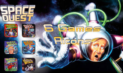 Space Quest Aicons Pack