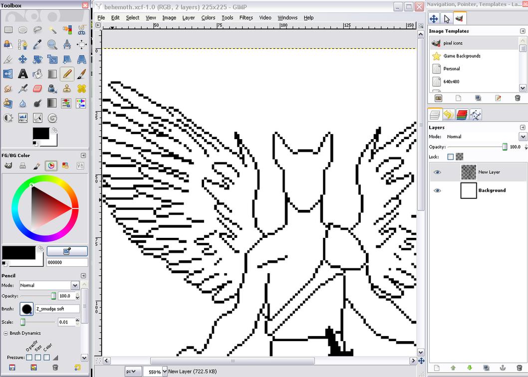 gimp 2 pixel art