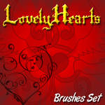 Lovely Hearts - brushes set