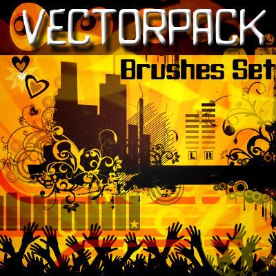 مجموعة فرش للتصميم من تجميعي Vectorpack____brushes_set_by_solenero73