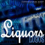Liquors Logos - brushes set
