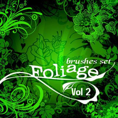 Foliage VOL 2_brushes set by solenero73