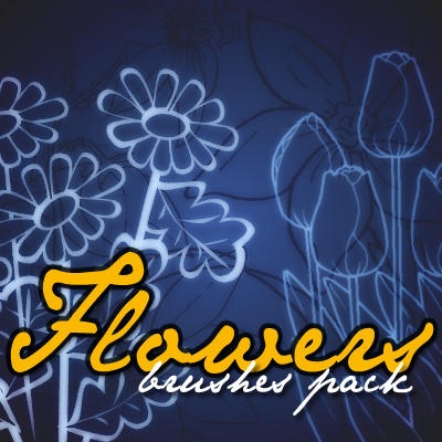 Flowers _ brushes pack by solenero73