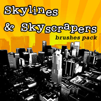 Skilines+Skyscrapes-brushesset by solenero73