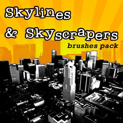 Skilines+Skyscrapes-brushesset by solenero73