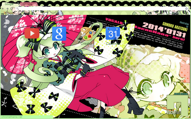Vocalloid Nana Japanese Chrome Theme by Inochi-PM