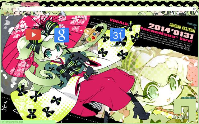 Vocalloid Nana Japanese Chrome Theme by Inochi-PM