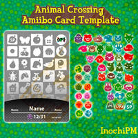 Animal Crossing AMIIBO Card Template
