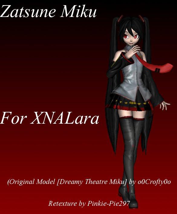 Zatsune Miku for XNALara (Download) by Pinkie-Pie297