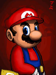Mario animated portrait
