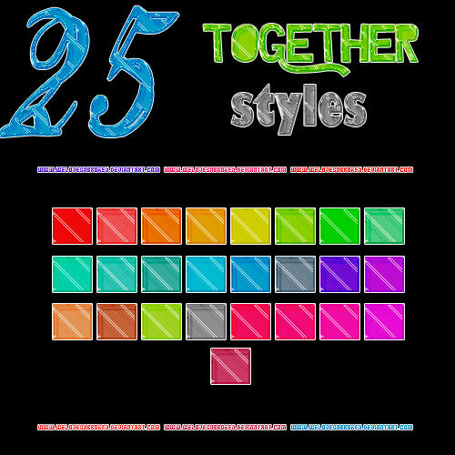 25 Together Styles by ~WeLoveUnbroken Together_styles_by_weloveunbroken-d577k0e