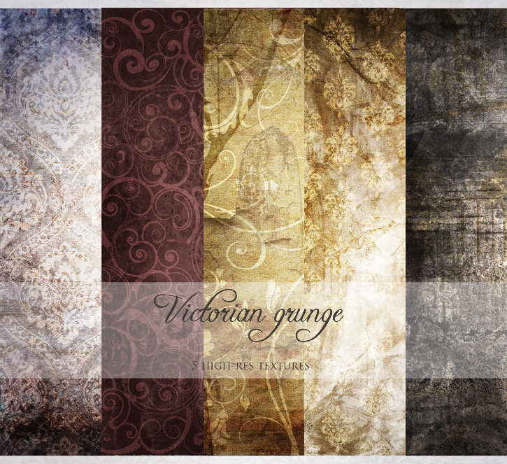 Victorian grunge texture pack by AF-studios