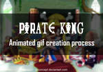 Pirate King (cartoon style) - gif process