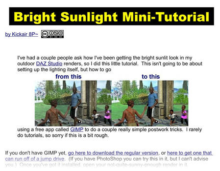 Bright Sunlight Mini-Tutorial