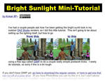 Bright Sunlight Mini-Tutorial