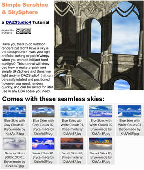 Simple Sunshine and SkySphere, DAZStudio4 Tutorial