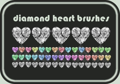 Diamond Heart Brushes by cataglyphis