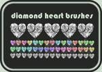 Diamond Heart Brushes