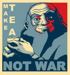 Uncle Iroh Poster - Make Tea Not War by wcqaguxa