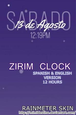 Destino Rainmeter 12 Clock Mimi Zirim On Hours Horas By Reloj rstQdxhC