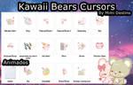 Kawaii Cute Sweet Bears Cursors Set/Pack