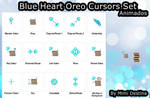 Kawaii Cute Blue Heart Oreo Cursors Cursores