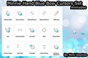 Cute Hand Minnie Blue Bow Cursors Cursores by Mimi-Destino