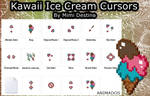 Cute Kawaii Ice Cream Cursors Set/Pack