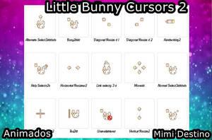 Kawai Little Bunny Cursors Cursores Conejito / a by Mimi-Destino