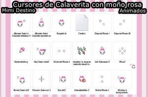 Calaverita con bow rosa kawaii Cursors Cursores by Mimi-Destino