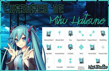 Cursores de Miku Hatsune Cursors Punteros by Mimi-Destino