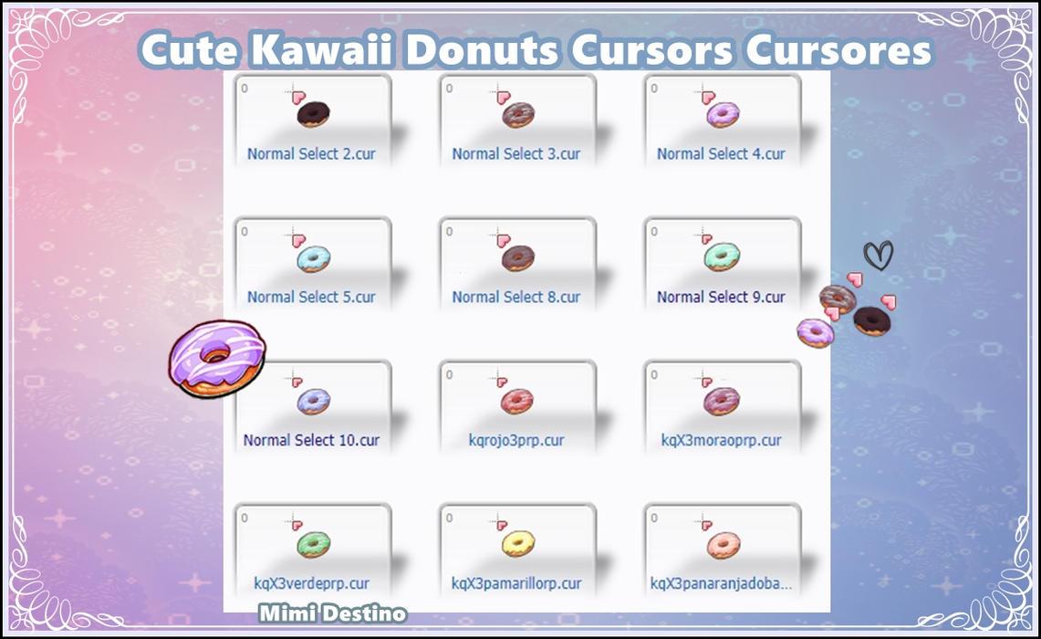 Cute Kawaii Donuts Cursors Cursores