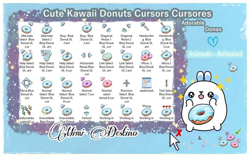 Cute Kawaii Sweet Marshmallow Cursors Cursores